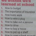 Top 10 things we wish we had learnt at school