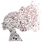 a head filled with beautiful music